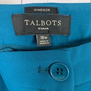 Talbots | Windsor Peacock Teal pants